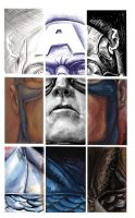 Captain America 9 Panel Portrait by justinprokowich