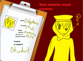 Bro School High School Application Form by AskStephanoTheStatue