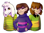Undertale - Those kids [colored] by Oszvalt100