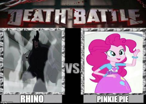 Rhino vs. Pinkie Pie by DaftPunk2007