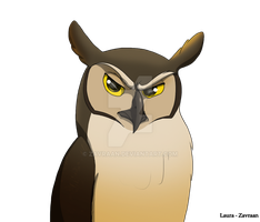 Great horned owl by zavraan