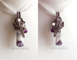 Purple Winter pendant by ukapala