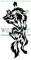 Green-Eye Climbing Wolf Tattoo by WildSpiritWolf