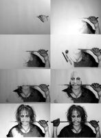 Progress of Alice Cooper's drawing by alfredorf22