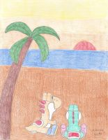 Yoshi's Island Sunset by N64chick