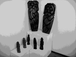Figures in the museum Opoczno by Horsissa