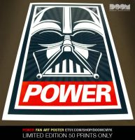Darth vader POWER Fan Art Poster by DoomCMYK