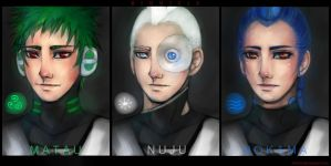 Bionicle.Humanized Toa.3 of 6. by Kihiart