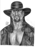 The Undertaker Pencil Drawing by Chirantha