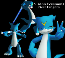 Veemon-fighting-finished by AniaDawson