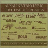 alkaline trio lyric brushes by chokingonstatic