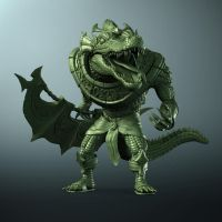 Renekton Sculpt - Front Shot by MightyReg
