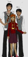 James, Albus and Lily by Golden-Flute