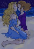 First Kiss--Colored by ninaclaww