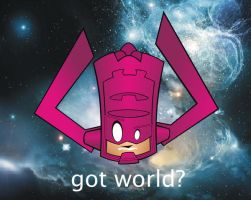 Heads Up Galactus by HeadsUpStudios
