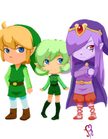 Link  Saria and vaati by Johed