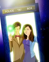 Clara and the Doctor by Merlinsbeard