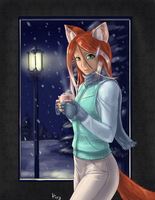 Cassie in Winter by AphexAngel