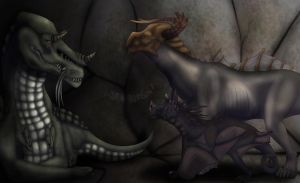 The cave meeting (speed paint) by ADragonSoul