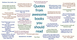 Quotes from good books by Porsheee