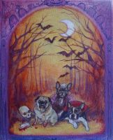 Halloween Puppy Portrait by AlizarinJen