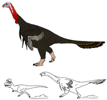 Turkey Therizinosaurus by StygimolochSpinifer