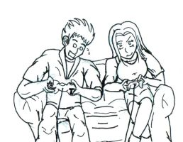 A little bit of Gaming by Alman001