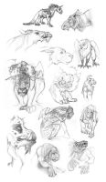 Creature Sketch Page by Vamtaro