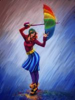 Rain Rainbow by Deisi
