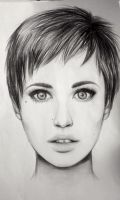 Short haired girl by marinabotnari