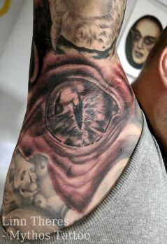 Demon in the armpit by Mythos-Tattoo