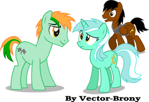 Equinox, Fast track and Lyra by Vector-Brony