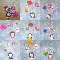 SNSD Phone Charms by soshified