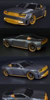 Stylish muscle car WIP by koleos33