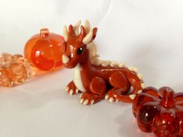 Orange Spiked Dragon - FOR SALE! by Katy-A
