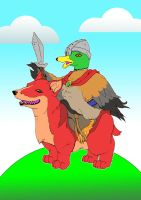 Galatheus and his Red Corgi by MatthewJWills