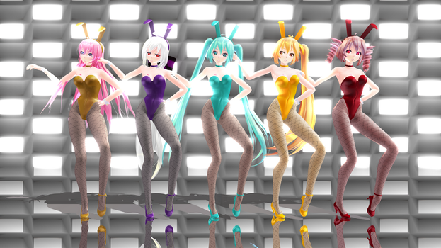 [MMD] Sentai Slender Legs -- video by Reineru-kun