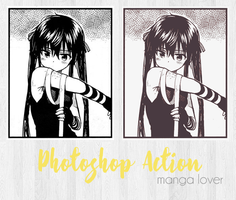 Manga Lover Action by Kamii-Indiscreet