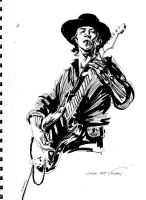 Stevie Ray Vaughan by clayrodery