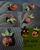 Deku Mask Necklace Charm by Super-Sonic-101