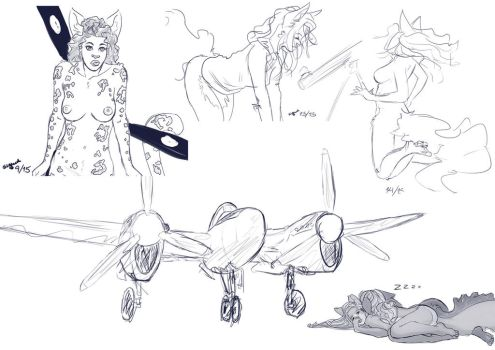 Daily Sketches 8 - 12 by Sig-nal