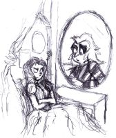Sketch:The wrong mirror by luiganddaisy