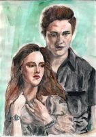 Bella and Edward by Damoritat