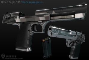 Desert Eagle 3D W.I.P by Beppe87