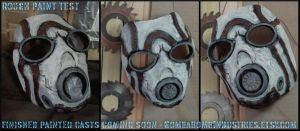 Cast Psycho Mask - testing out paints by CopperCentipede