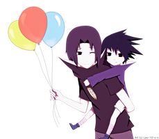 Itachi and Sasuke: -- Happy B-day! -- by Reo-chii