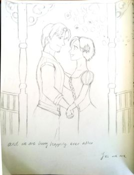 Tangled - Happily ever after Pencils by calink12