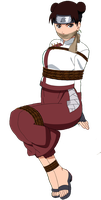 Tenten Tied Up & Gagged by songokussjsannin8000