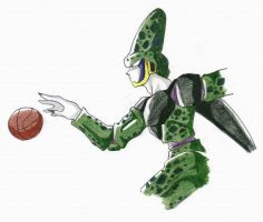 Cell playing basketball by lauretta18