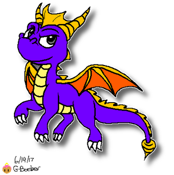 Spyro the Dragon by G-Bomber